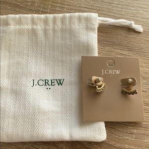 NEW J.Crew gold grey earrings